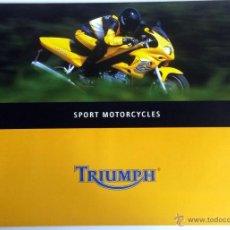Coches y Motocicletas: CATALOGO PUBLICIDAD ORIGINAL TRIUMPH SPORT MOTORCYCLES.. Lote 54635256