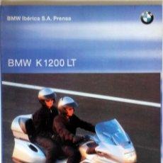 Coches y Motocicletas: DOSSIER DE PRENSA DE BMW K 1200 LT. CON DIAPOSITIVAS.. Lote 54636717