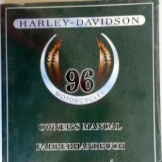Coches y Motocicletas: MANUAL DEL PROPIETARIO HARLEY DAVIDSON 1996.. Lote 54637189