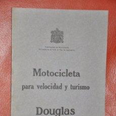 Coches y Motocicletas: CATÁLOGO DE MOTOCICLETA PARA VELOCIDAD Y TURISMO DOUGLAS DE 1926 . Lote 54687391