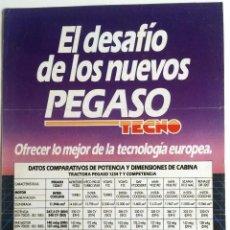 Coches y Motocicletas: CATÁLOGO PEGASO TECNO.. Lote 54767878