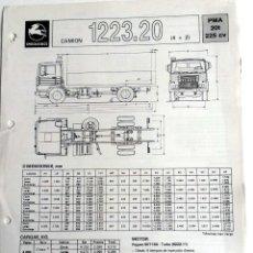 Coches y Motocicletas: FICHA TÉCNICA PEGASO CAMION 1223.20.. Lote 54769444