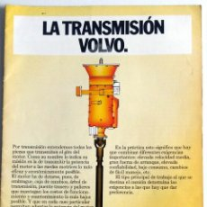 Coches y Motocicletas: CATALOGO CAMIONES VOLVO LA TRANSMISIÓN.. Lote 54789884