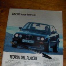 Coches y Motocicletas: BMW 320I NUEVA GENERACION, TEORIA DEL PLACER. PUBLICIDAD.. Lote 54854829