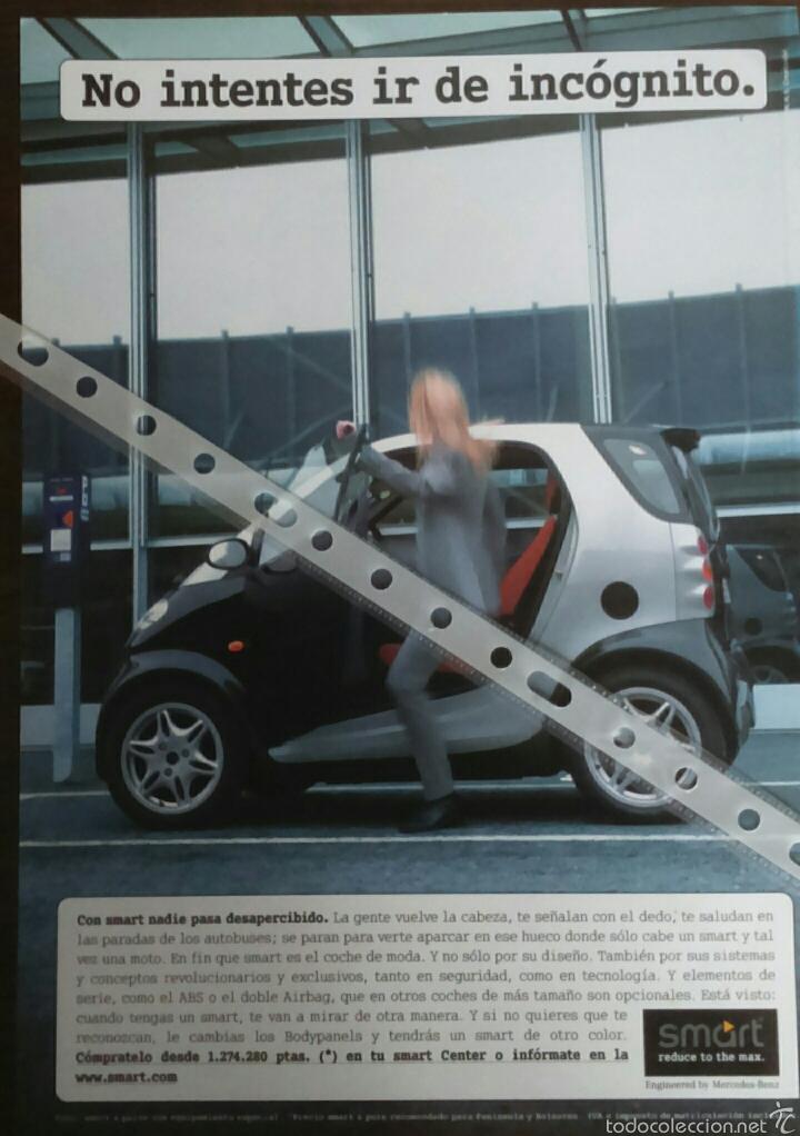 PUBLICIDAD AUTOMOVIL SMART (Coches y Motocicletas Antiguas y Clásicas - Catálogos, Publicidad y Libros de mecánica)