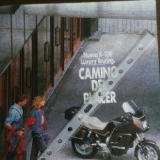 Coches y Motocicletas: PUBLICIDAD MOTO BMW K 100 DE 1989. Lote 54871254