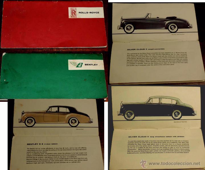 CATALOGO DE COCHES ROLLS ROYCE Y BENTLEY, AÑO 1931, TIENE 32 PAG. EN TOTAL, CON MUCHISIMAS ILUSTRACI (Coches y Motocicletas Antiguas y Clásicas - Catálogos, Publicidad y Libros de mecánica)