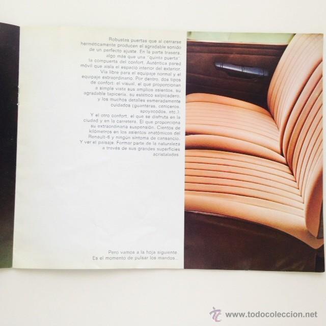 Coches y Motocicletas: Catalogo original Renault 6. Folleto Renault 6 - Foto 7 - 55025046