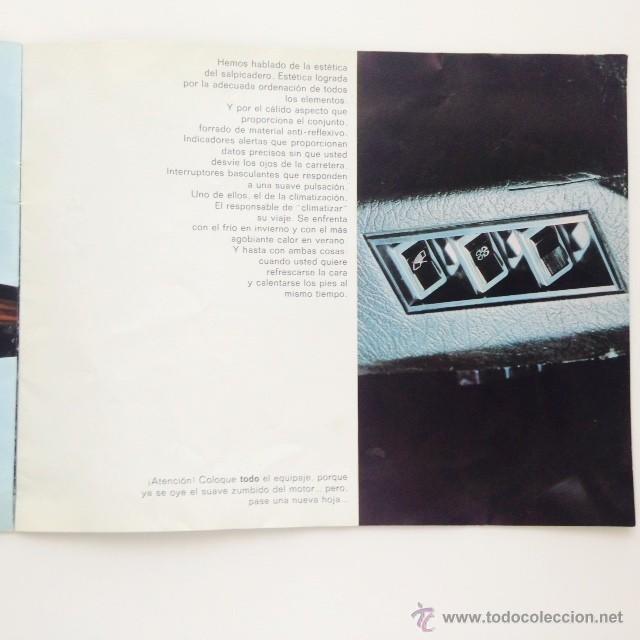 Coches y Motocicletas: Catalogo original Renault 6. Folleto Renault 6 - Foto 9 - 55025046