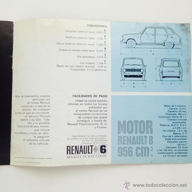 Coches y Motocicletas: Catalogo original Renault 6. Folleto Renault 6 - Foto 11 - 55025046