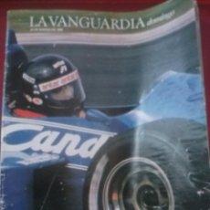 Carros e motociclos: LA VANGUARDIA , SUPLEMENTO DOMINICAL 23 MARZO 1986 , 9 PÁGS MUNDIAL FORMULA 1 F1. Lote 55030151