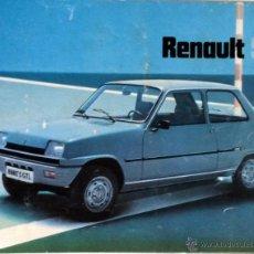Coches y Motocicletas: CATÀLOGO ORIGINAL RENAULT 5. AÑO 1978.. Lote 55091239