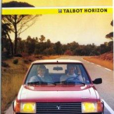 Coches y Motocicletas: CATÀLOGO ORIGINAL TALBOT HORIZON. AÑO 1985.. Lote 55091869