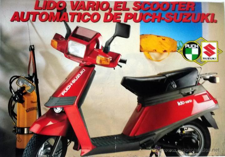 CATÀLOGO ORIGINAL PUCH-SUZUKI LIDO VARIO. (Coches y Motocicletas Antiguas y Clásicas - Catálogos, Publicidad y Libros de mecánica)