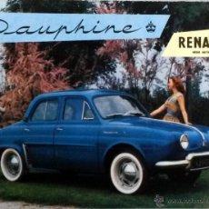 Coches y Motocicletas: CATÀLOGO ORIGINAL RENAULT DAUPHINE.. Lote 55094684