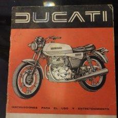 Coches y Motocicletas: MANUAL DE DUCATI TWIN 500 MANUAL PARA EL USO. Lote 113476554