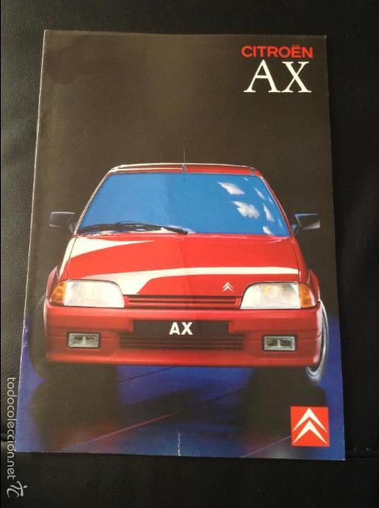 FOLLETO CATALOGO PUBLICIDAD ORIGINAL CITROEN AX DE 1989 CITROËN (Coches y Motocicletas Antiguas y Clásicas - Catálogos, Publicidad y Libros de mecánica)