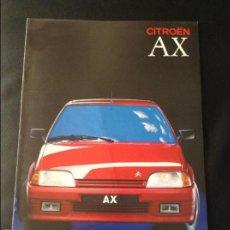 Coches y Motocicletas: FOLLETO CATALOGO PUBLICIDAD ORIGINAL CITROEN AX DE 1989 CITROËN. Lote 55237574
