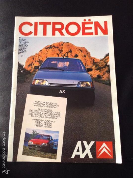 FOLLETO CATALOGO PUBLICIDAD ORIGINAL CITROEN AX DE 1987 CITROËN (Coches y Motocicletas Antiguas y Clásicas - Catálogos, Publicidad y Libros de mecánica)