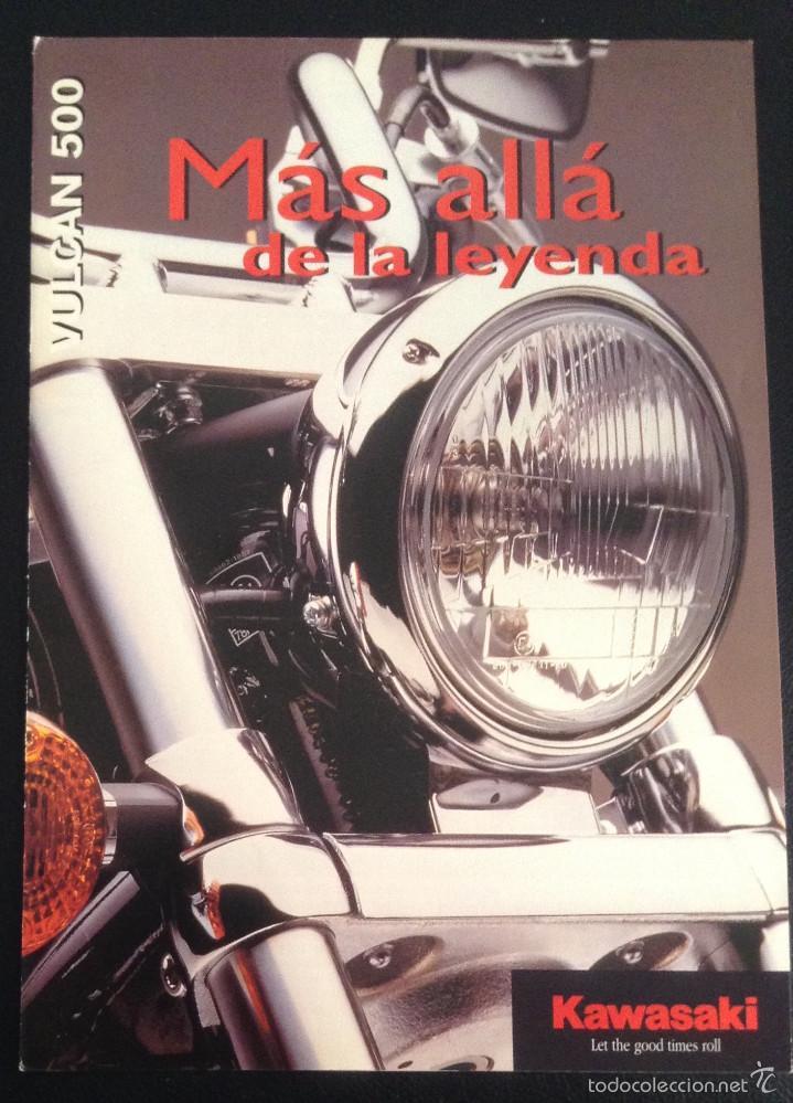 FOLLETO CATALOGO PUBLICIDAD ORIGINAL KAWASAKI VULCAN 500 DE 1997 (Coches y Motocicletas Antiguas y Clásicas - Catálogos, Publicidad y Libros de mecánica)