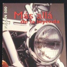 Coches y Motocicletas: FOLLETO CATALOGO PUBLICIDAD ORIGINAL KAWASAKI VULCAN 500 DE 1997. Lote 55334917