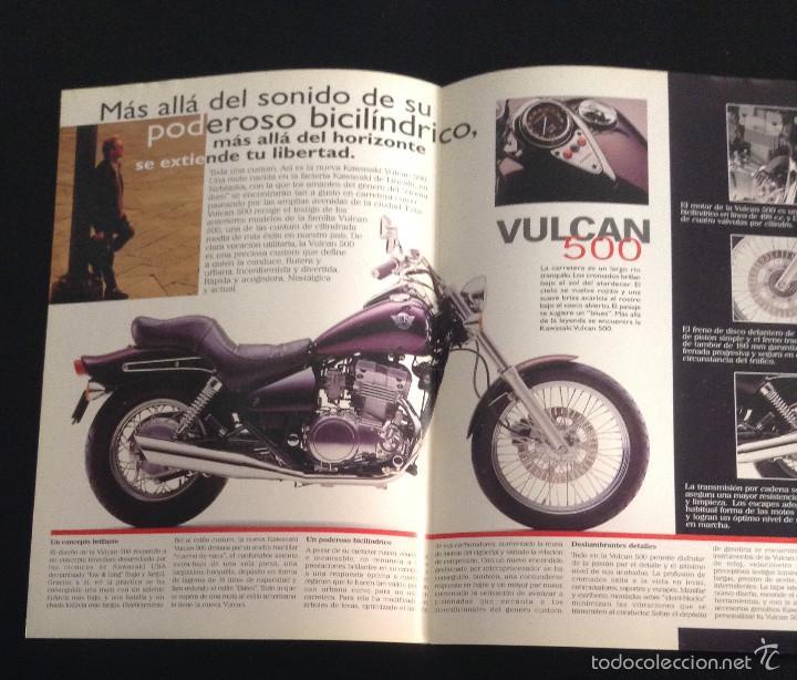 Coches y Motocicletas: Folleto catalogo publicidad original kawasaki vulcan 500 de 1997 - Foto 2 - 55334917