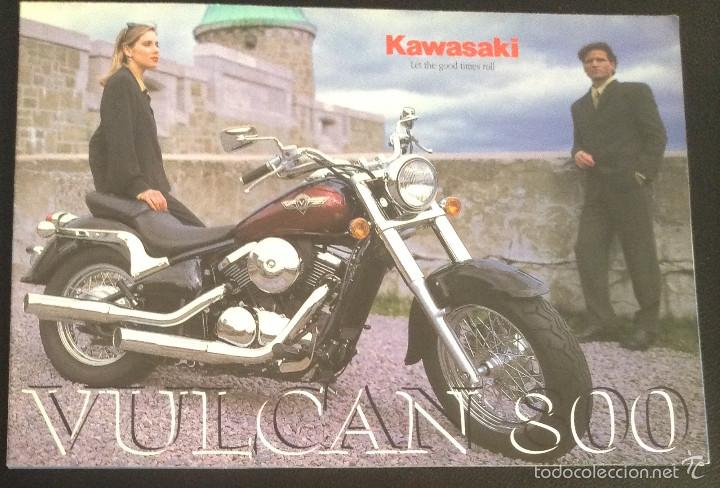FOLLETO CATALOGO PUBLICIDAD ORIGINAL KAWASAKI VULCAN 800 DE 1998 (Coches y Motocicletas Antiguas y Clásicas - Catálogos, Publicidad y Libros de mecánica)
