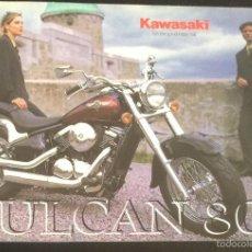 Coches y Motocicletas: FOLLETO CATALOGO PUBLICIDAD ORIGINAL KAWASAKI VULCAN 800 DE 1998. Lote 55334931