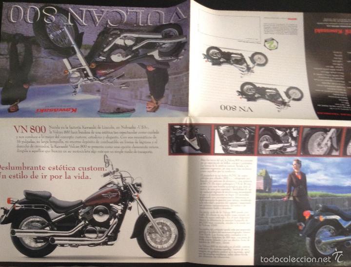Coches y Motocicletas: Folleto catalogo publicidad original kawasaki vulcan 800 de 1998 - Foto 2 - 55334931