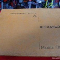 Coches y Motocicletas: TRIMAK TRIMACAR MODELO TR 170 LISTADO DE PIEZAS VER FOTOS. Lote 126325415
