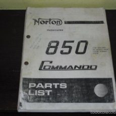 Coches y Motocicletas: NORTON MOTORCYCLES - 850 COMMANDO PARTS LIST -. Lote 55352574