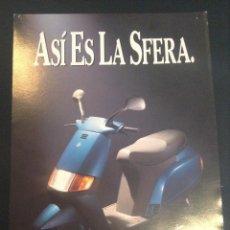 Coches y Motocicletas: FOLLETO CATALOGO PUBLICIDAD ORIGINAL VESPA SFERA. Lote 55703908