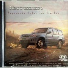 Coches y Motocicletas: CD - DVD - DOSSIER DE PRENSA ORIGINAL HYUNDAI TERRACAN.. Lote 55711494