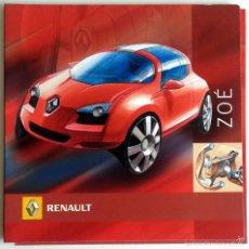 Coches y Motocicletas: CD - DVD - DOSSIER DE PRENSA ORIGINAL RENAULT -ZOÉ.. Lote 55712193