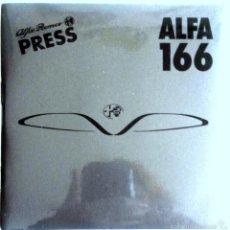 Coches y Motocicletas: CD - DVD - DOSSIER DE PRENSA ORIGINAL ALFA ROMEO.- ALFA 166.. Lote 55713161