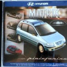 Coches y Motocicletas: CD - DVD - DOSSIER DE PRENSA ORIGINAL HYUNDAI MATRIX. DISEÑO PINIFARINA.. Lote 55714370