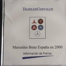Coches y Motocicletas: CD - DVD - DOSSIER DE PRENSA ORIGINAL DAIMLER CHRYSLER - MERCEDES-BENZ ESPAÑA 2000.. Lote 55714665