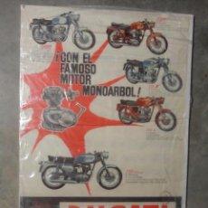 Coches y Motocicletas: POSTER ORIGINAL DUCATI 1963 125 TS 175 TS 200 ELITE 250 DELUXE. Lote 55791292