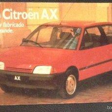 Coches y Motocicletas: FOLLETO CATALOGO PUBLICIDAD ORIGINAL NUEVO CITROEN AX DE 1987 CITROËN. Lote 55804595