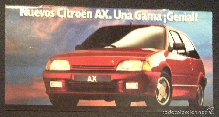 FOLLETO CATALOGO PUBLICIDAD ORIGINAL NUEVO CITROEN AX DE 1989 CITROËN (Coches y Motocicletas Antiguas y Clásicas - Catálogos, Publicidad y Libros de mecánica)