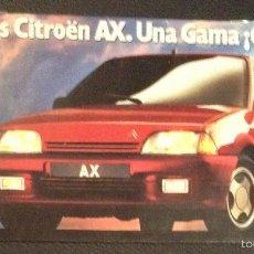 Coches y Motocicletas: FOLLETO CATALOGO PUBLICIDAD ORIGINAL NUEVO CITROEN AX DE 1989 CITROËN. Lote 55804612