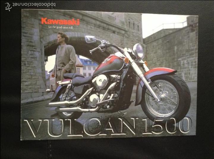 FOLLETO CATALOGO PUBLICIDAD ORIGINAL KAWASAKI VULCAN 1500 DE 1998 (Coches y Motocicletas Antiguas y Clásicas - Catálogos, Publicidad y Libros de mecánica)