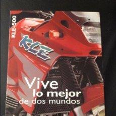 Coches y Motocicletas: FOLLETO CATALOGO PUBLICIDAD ORIGINAL KAWASAKI KLE-500 DE 1997. Lote 55812747