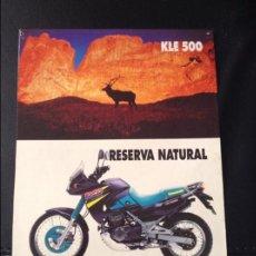 Coches y Motocicletas: FOLLETO CATALOGO PUBLICIDAD ORIGINAL KAWASAKI KLE 500 Y VULCAN DE 1994. Lote 55812882