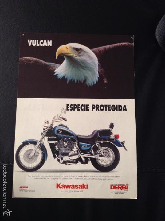 Coches y Motocicletas: Folleto catalogo publicidad original kawasaki kle 500 y vulcan de 1994 - Foto 2 - 55812882