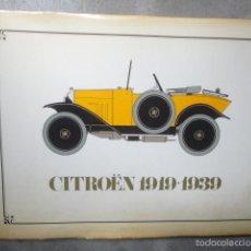 Coches y Motocicletas: LIBRO CITROEN 1919 1939 . Lote 55879781