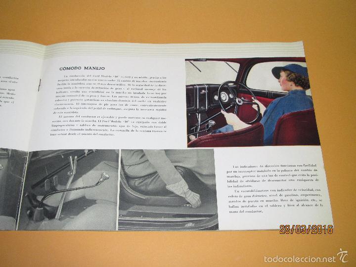 Coches y Motocicletas: Antiguo Catalogo en Español del Coche FORD Modelo 10 del Año 1935 de Ford Motor Iberica Barcelona - Foto 2 - 55889566