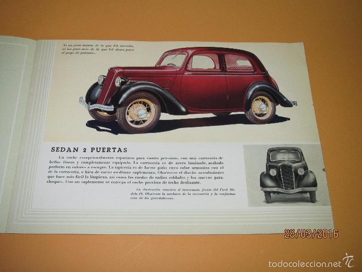 Coches y Motocicletas: Antiguo Catalogo en Español del Coche FORD Modelo 10 del Año 1935 de Ford Motor Iberica Barcelona - Foto 3 - 55889566