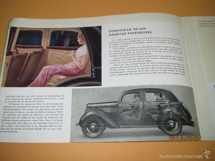 Coches y Motocicletas: Antiguo Catalogo en Español del Coche FORD Modelo 10 del Año 1935 de Ford Motor Iberica Barcelona - Foto 4 - 55889566