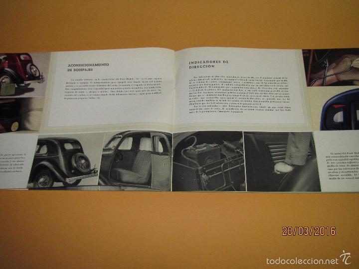 Coches y Motocicletas: Antiguo Catalogo en Español del Coche FORD Modelo 10 del Año 1935 de Ford Motor Iberica Barcelona - Foto 5 - 55889566